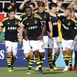 Obasi Scores Goal No.5 In Sweden; Simon, Matthew On Target
