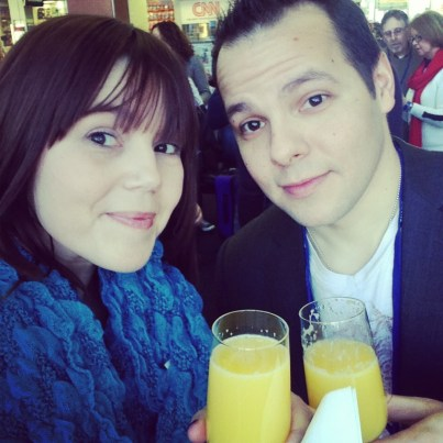 Mimosas before the plane