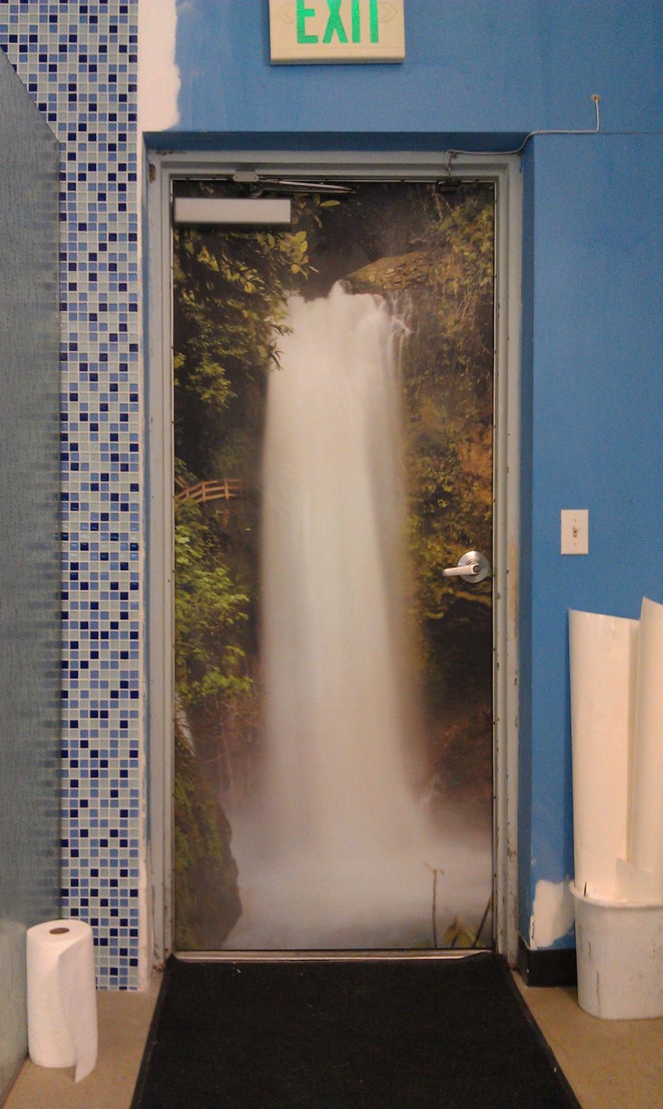 Car Mural Wallpaper 187 Waterfall Door Wrap Comply Grafiks