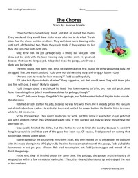 Job Reading Comprehension Worksheet - Kidz Activities
