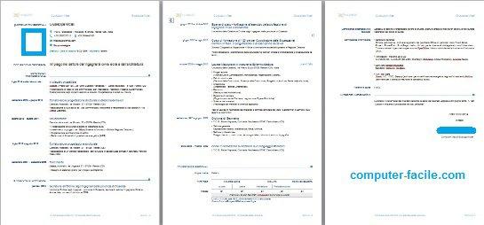 Curriculum vitae europass da compilare