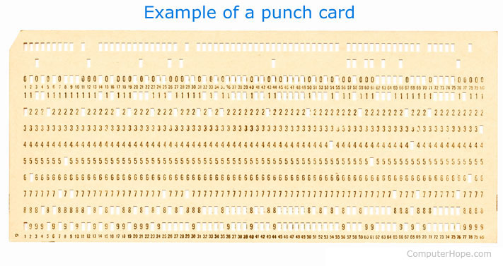 What is a Punch Card? - punch cards