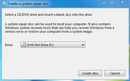 windows 7 backup disk