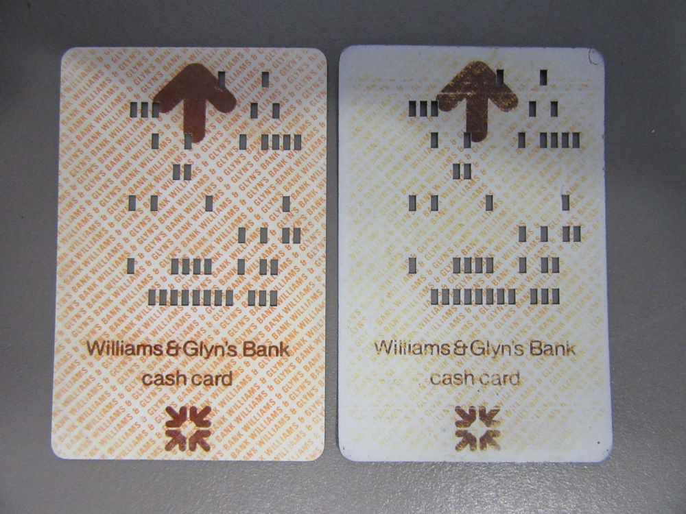 ATM Punch-Cards, 1970s - Computing History - punch cards