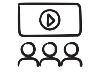 viewers-watching-motion-picture-sketch-icon-vector-13233234