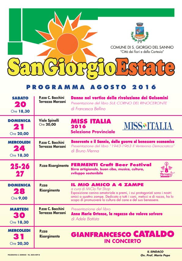 San Giorgio Estate 2016: il programma