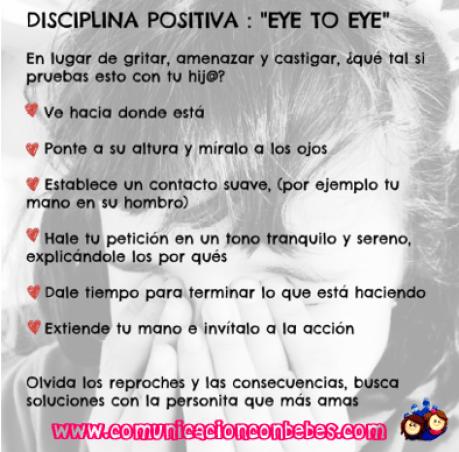 Disciplina positiva Eye to Eye