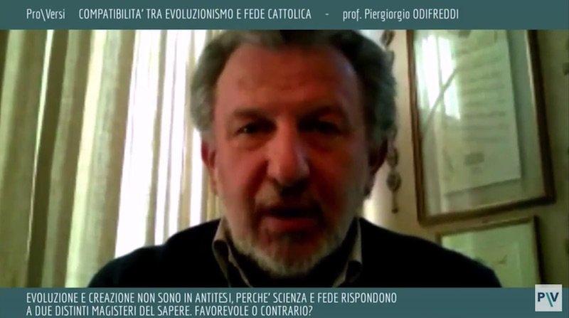 Piergiorgio Odifreddi interviene su evoluzionismo e religione cattolica su Pro\Versi