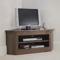 Ora Oak Small Open Corner TV Unit - Con-Tempo Furniture