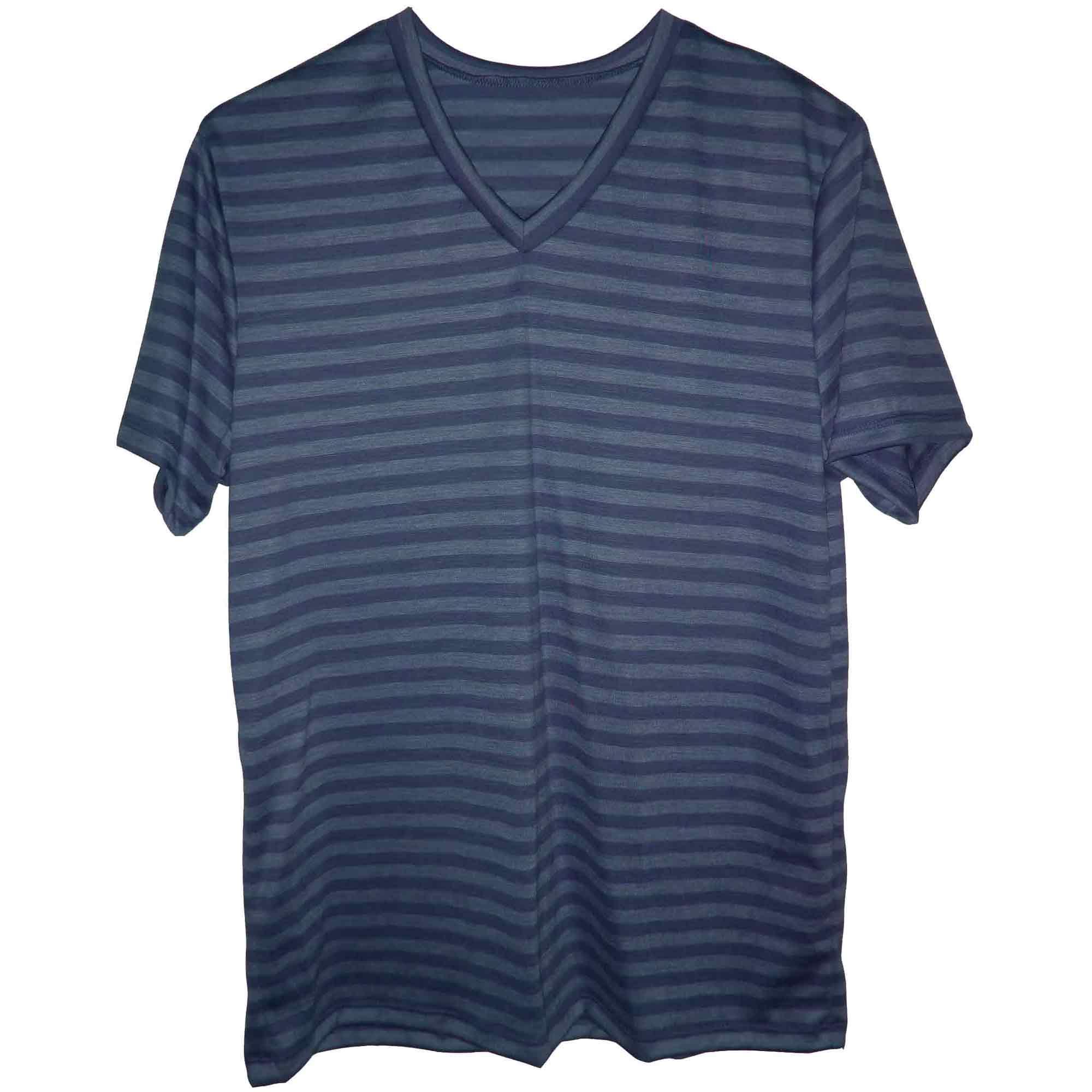 Blue merino V-neck