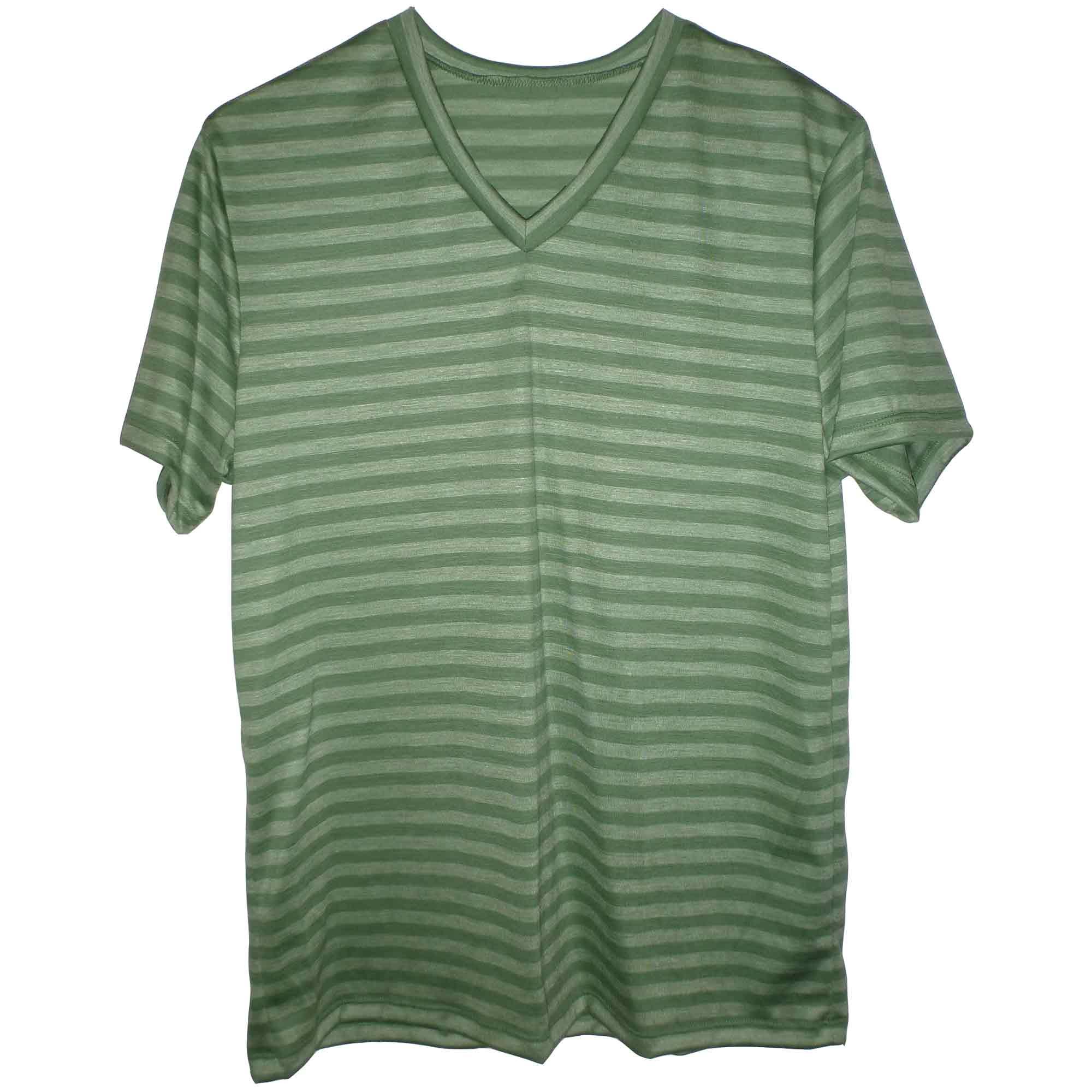 Green merino v-neck