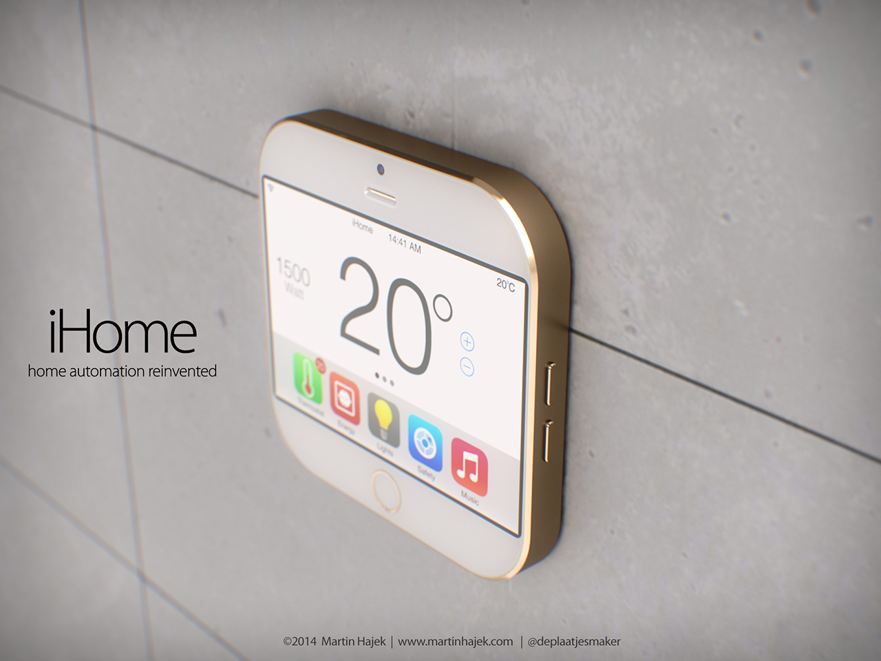 Wallpaper Iphone 3d Touch Apple Ihome Concept Deals With Home Automation In Small