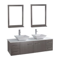 "Siena Solid Wood 71"" Wall-mounted Double Bathroom Vanity ..."