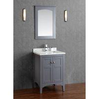 Buy Martin 24 Inch Solid Wood Single Bathroom Vanity in ...