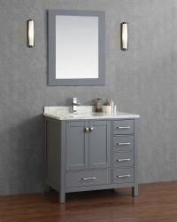 Buy Vincent 36 Inch Solid Wood Single Bathroom Vanity in ...