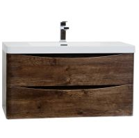 "Buy Merida 35.5"" Wall-Mount Bathroom Vanity in Rosewood TN ..."