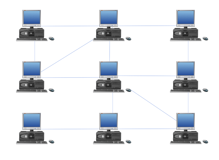 how to design a network topology in powerpoint using shapes