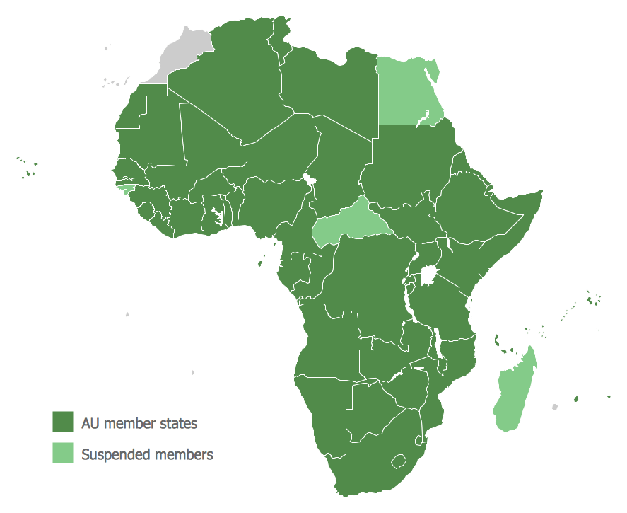 map of african continent