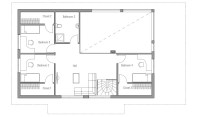 Small House Plan CH35 floor plans and house design. House Plan