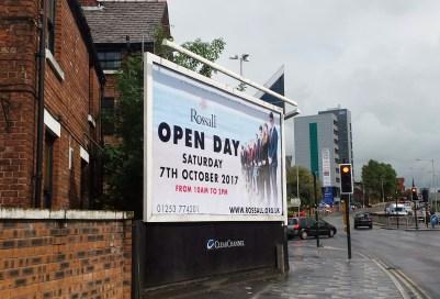 Rossall School Billboard advertisement