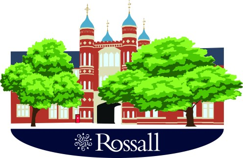 Vector image of the Rossall archway & towers for a Snapchat filter