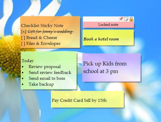 Sticky Notes on Windows Desktop (Alternative to 3M\u0027s Post-It® Notes)