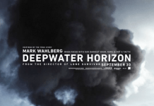 Credits: weliveentertainment.com An image of the Deepwater Horizon poster with black smoke.