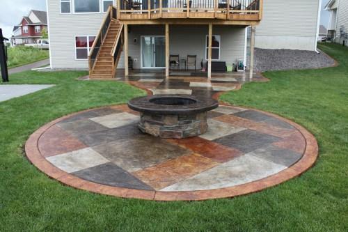 Medium Of Concrete Fire Pit