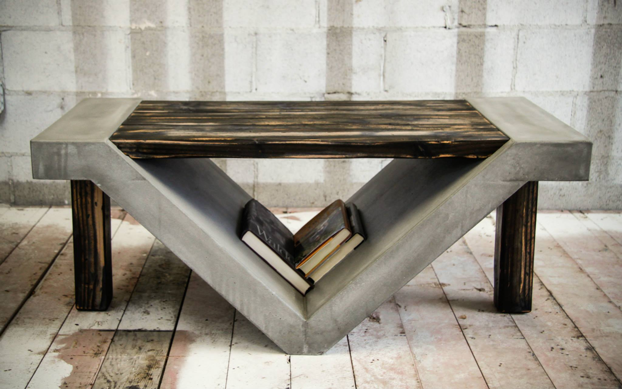 concrete perfect reason concrete kitchen table The slanted storage space beneath this table is perfect for tucking away books and magazines