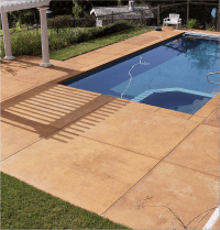 Colored Concrete Pool Deck Gorgeous Pool Decks Colored ...