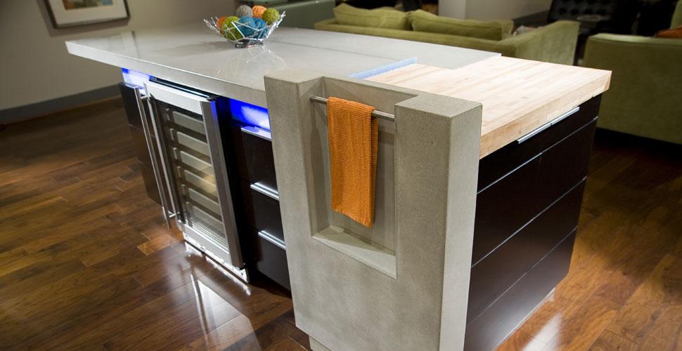 Concrete Kitchen Island