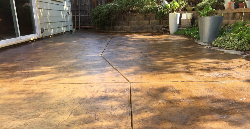 Concrete Stain And Sealer Patio Makeover Concrete Exchange