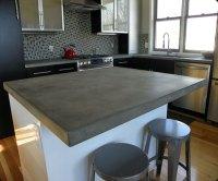 boulder concrete kitchen island  Concrete Pete