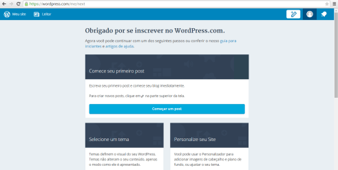 inscrito no wordpress