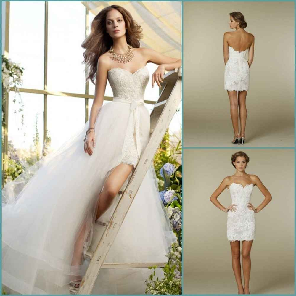 wedding dress pattern with detachable train detachable wedding dress train Short Wedding Gown With Detachable Train 53