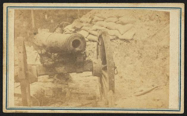 Cannon in Duryea's and Bainbridge's Batteries, 15th Arkansas, Port Hudson, Louisiana LOC