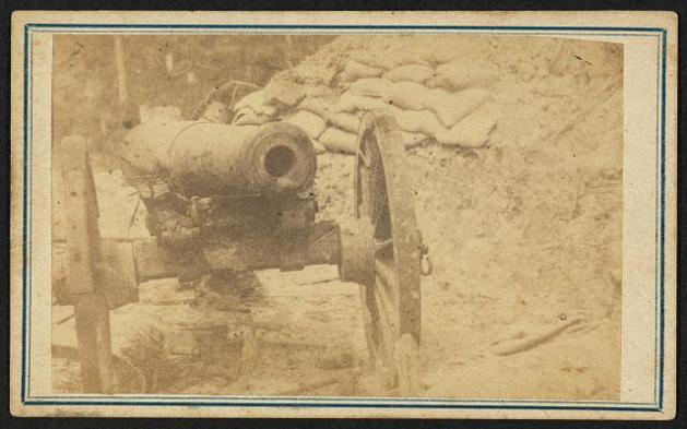 Cannon in Duryea's and Bainbridge's Batteries, 15th Arkansas, Port Hudson, Louisiana LOC