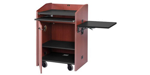 Avf Pd3003 Mobile Podium With Keyboard Tray And Hinged