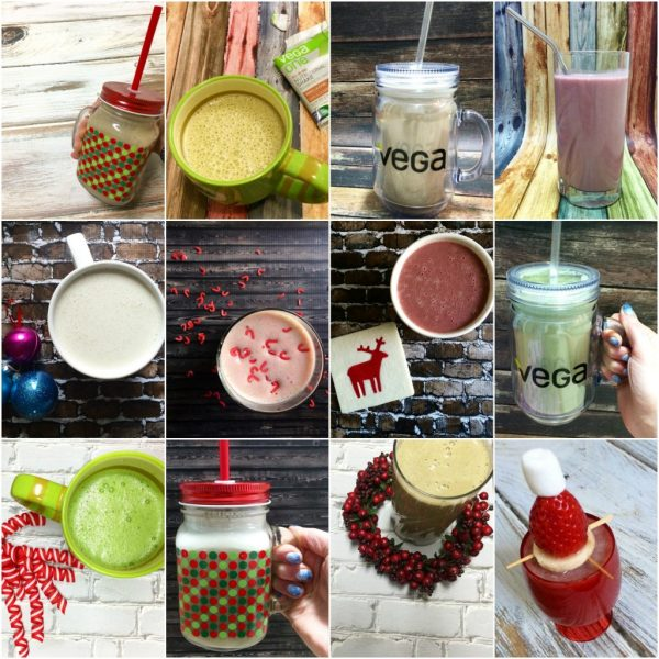 12 Days of Smoothies, these holiday and Christmas inspired recipes will keep you feeling healthy and festive all December long!