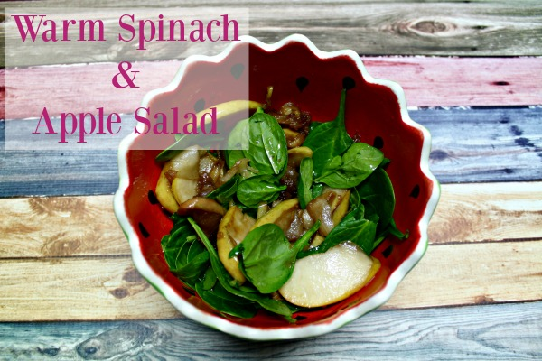 This warm spinach and apple salad recipe is a fast lunch when you want something healthy but fast to eat.