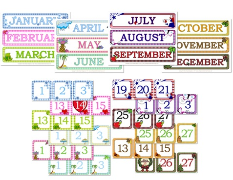 Gingham Calendar Day  Month Printables - Confessions of a Homeschooler
