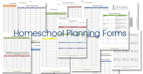 Homeschool Lesson Planner Floral - Confessions of a Homeschooler