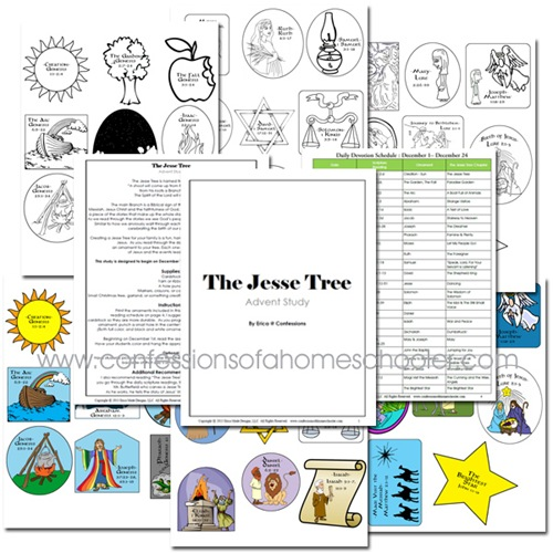 The Jesse Tree Free Printable - Confessions of a Homeschooler