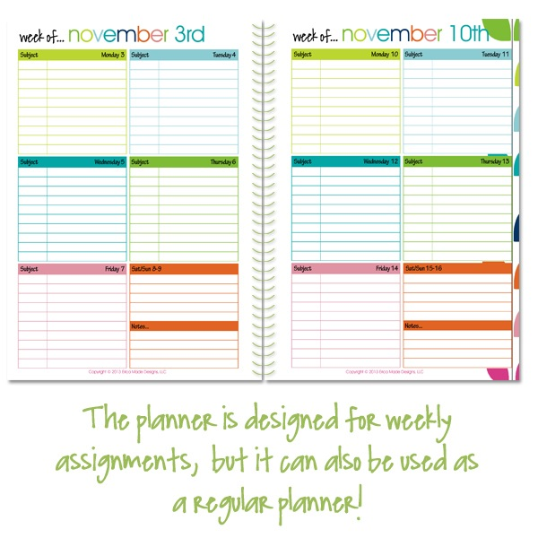 5x7 Student Lesson Planner Pages - Confessions of a Homeschooler