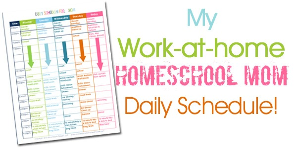 A Homeschooling Mom\u0027s Daily Schedule - Confessions of a Homeschooler