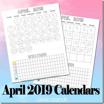 April 2019 Printable Calendars - Confessions of a Homeschooler
