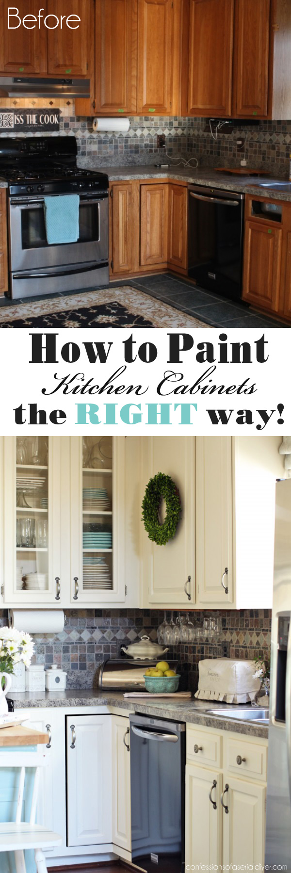 how to paint kitchen cabinets a step by step guide painting kitchen cabinets How to Paint Kitchen Cabinets the RIGHT way from Confessions of a Serial Do it