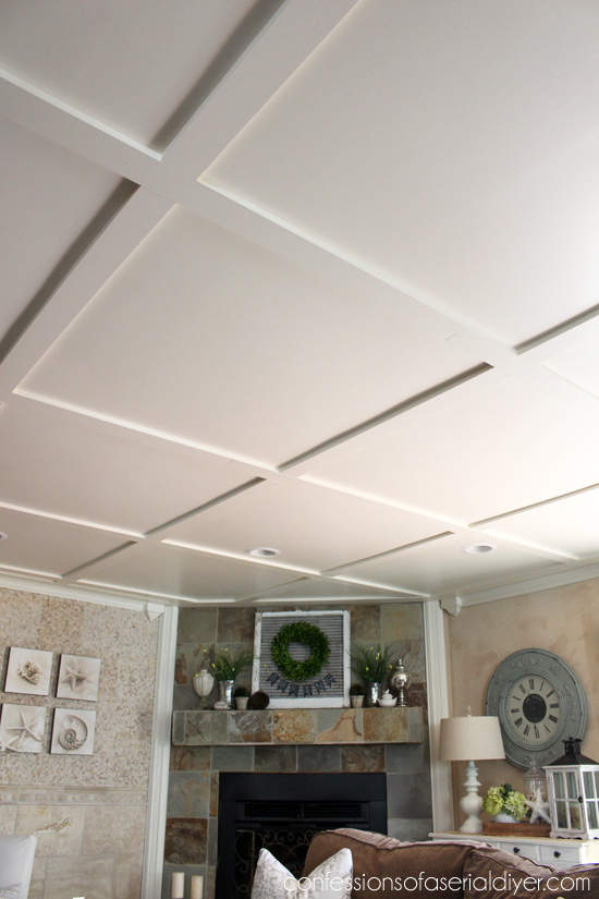 Faux Coffered Ceiling