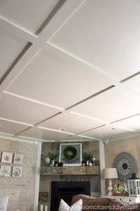 Faux Coffered Ceiling | Confessions of a Serial Do-it ...