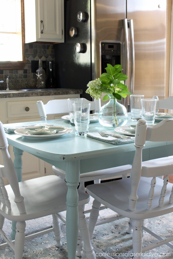 How To Paint A Laminate Kitchen Table | Confessions Of A Serial Do